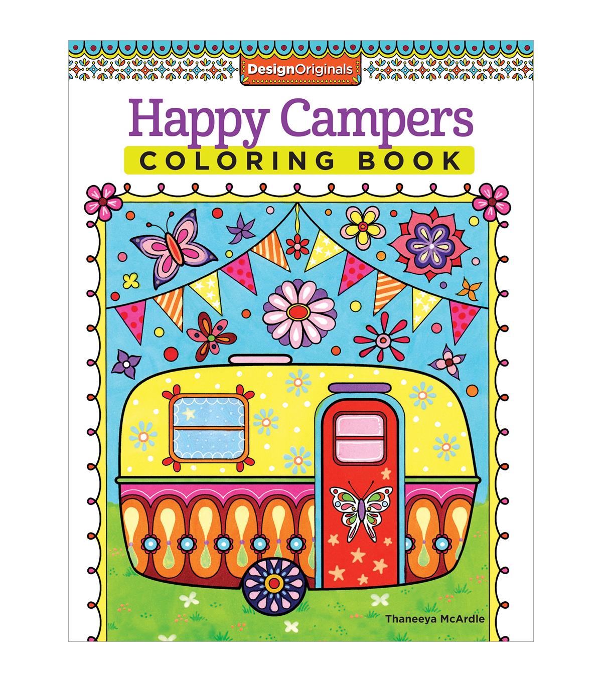 Adult Coloring Book Design Originals Happy Campers