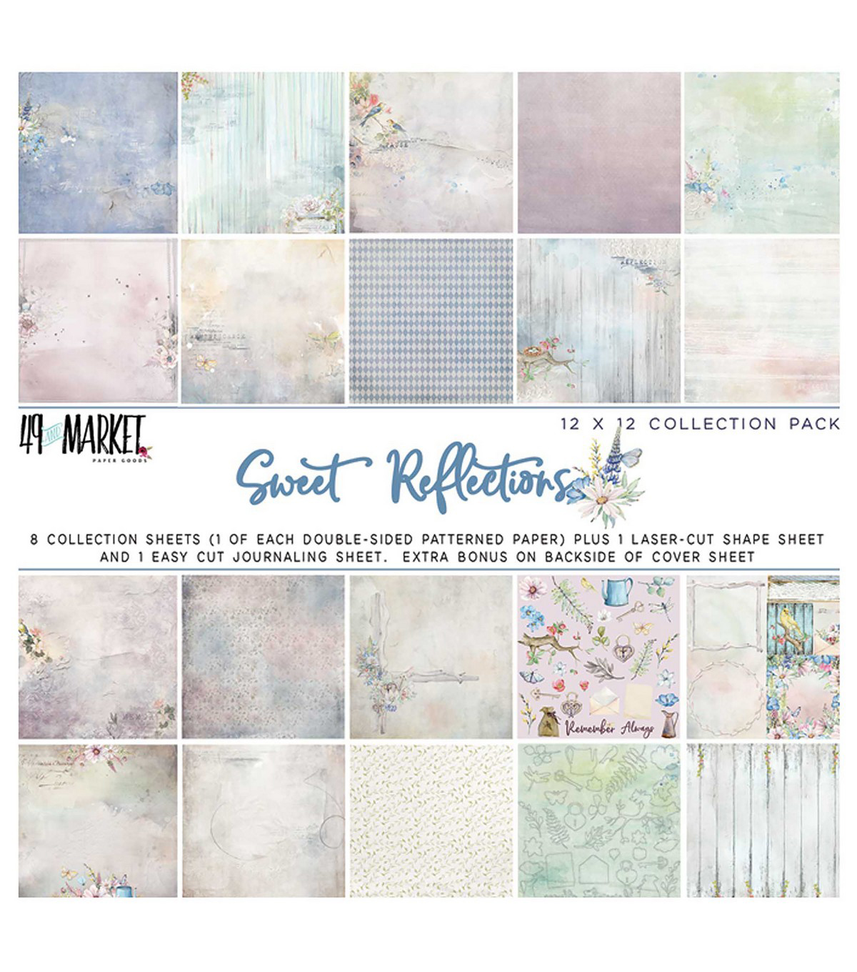 49 And Market Collection Pack 12\u0022X12\u0022-Sweet Reflections