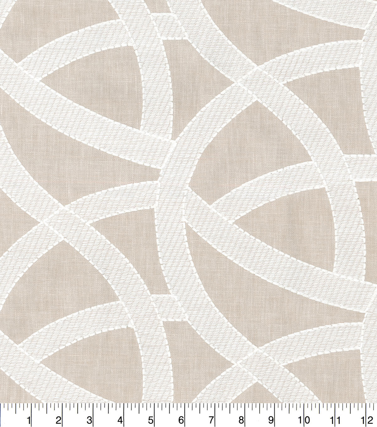 Studio NYC Upholstery Décor Fabric-Lunar Embroidered Dune
