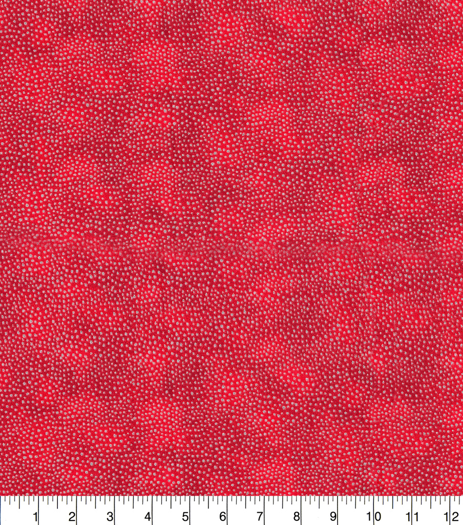 Christmas Textured Cotton Fabric-Dots on Red
