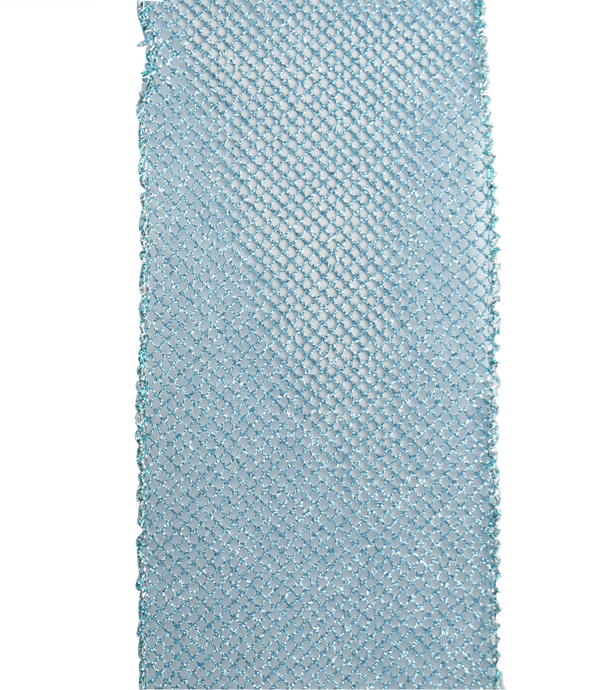 Maker\u0027s Holiday Christmas Glitter Mesh Ribbon 4\u0027\u0027x40\u0027-Light Blue