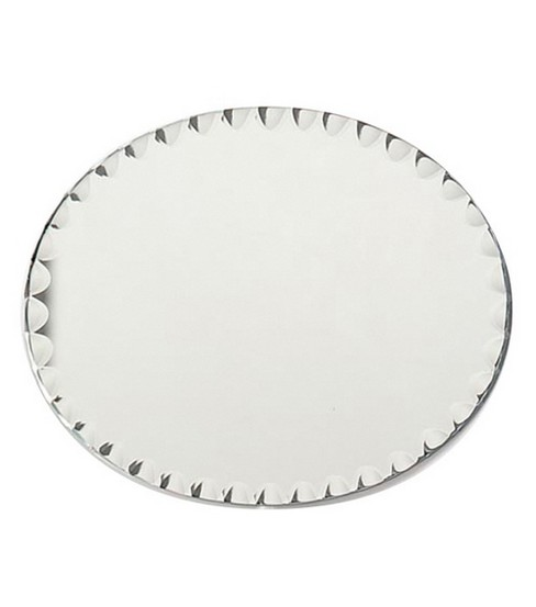 8\u0022x10\u0022 Oval Glass Mirror W/Scallop Edge