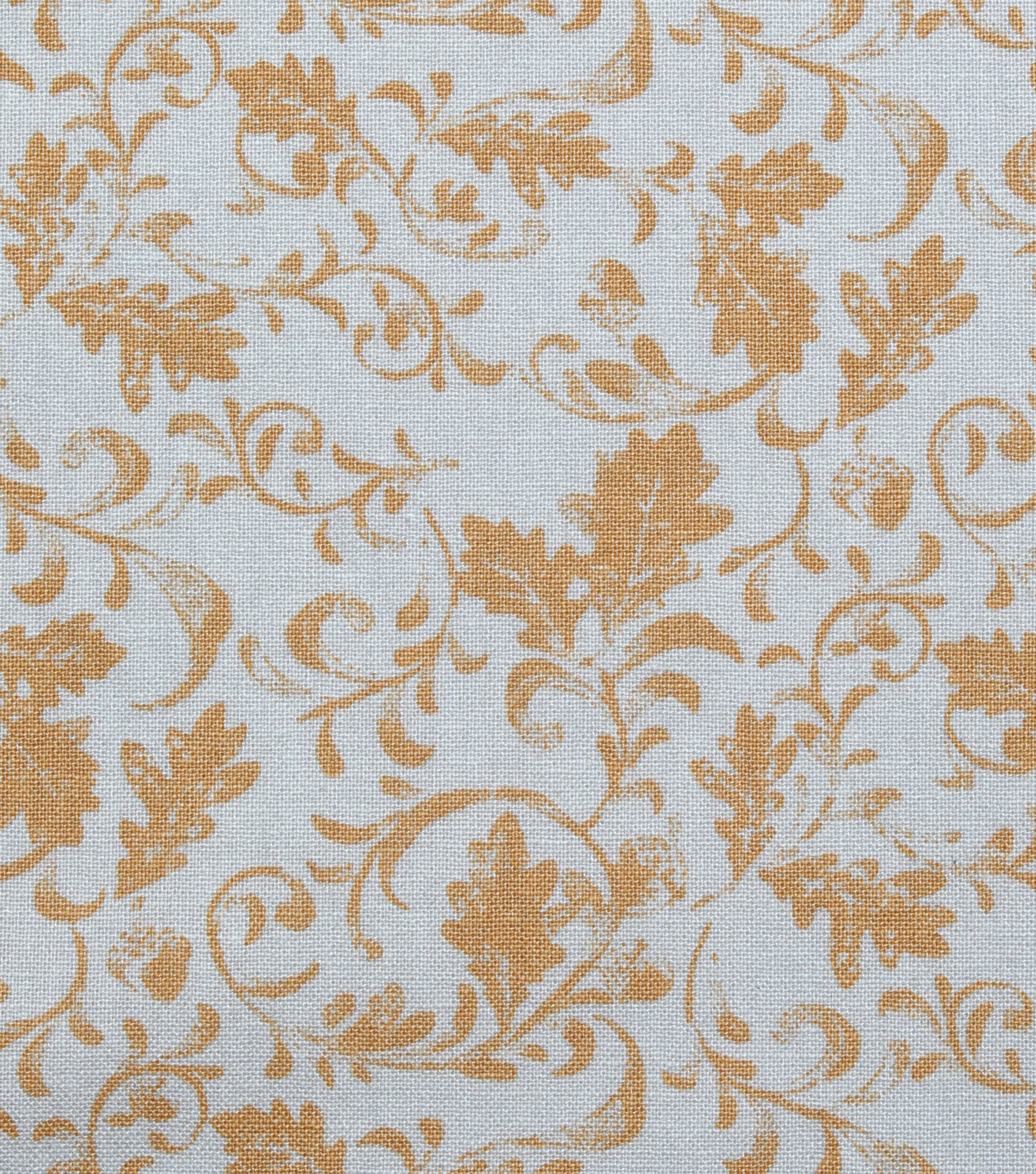 Harvest Cotton Fabric 44\u0022-Leaf Scrolls on Cream