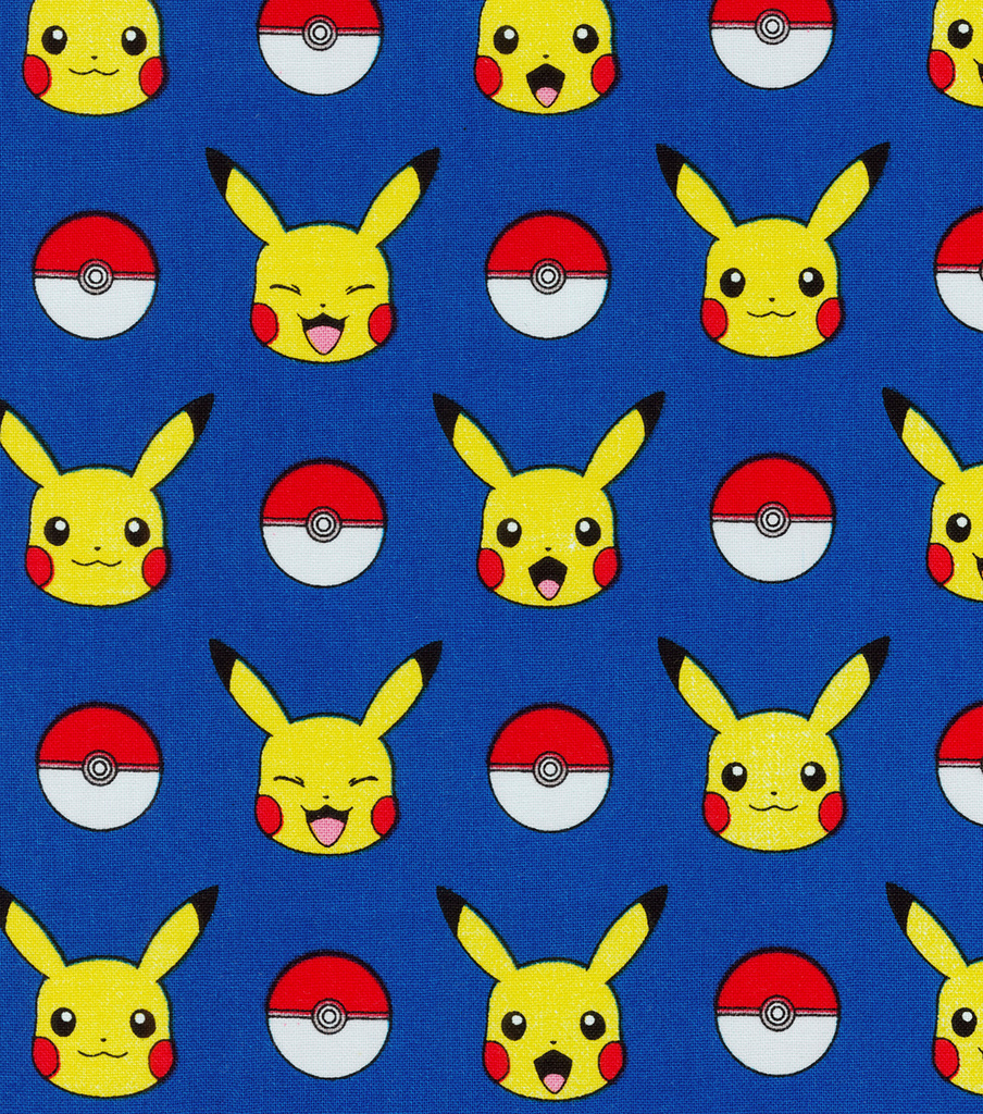 Pokemon Cotton Fabric-Pikachu & Balls