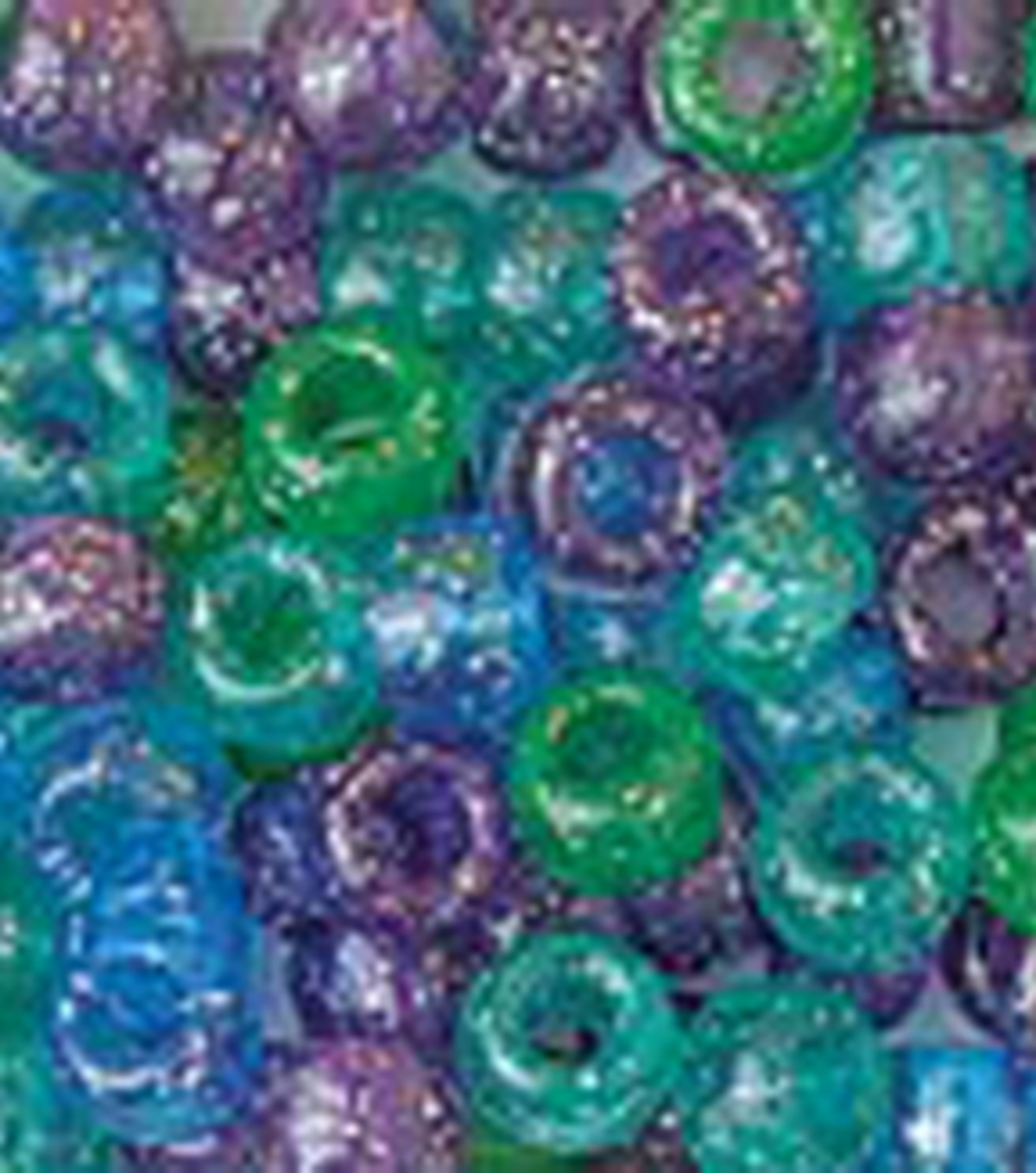 Pony Beads 6mmx9mm 415/Pkg-Cool Sparkle Multi