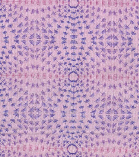 Modern Cotton Fabric -Circle Burst on Light Purple