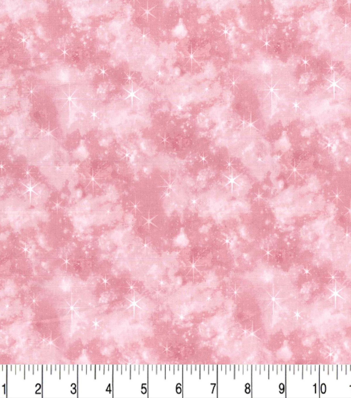 Premium Cotton Fabric-Pink Mermaid Galaxy