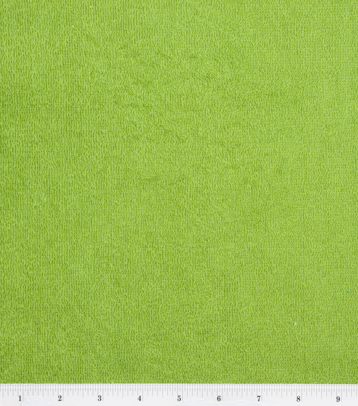 Cotton Terry Cloth Fabric-Solids, Lime