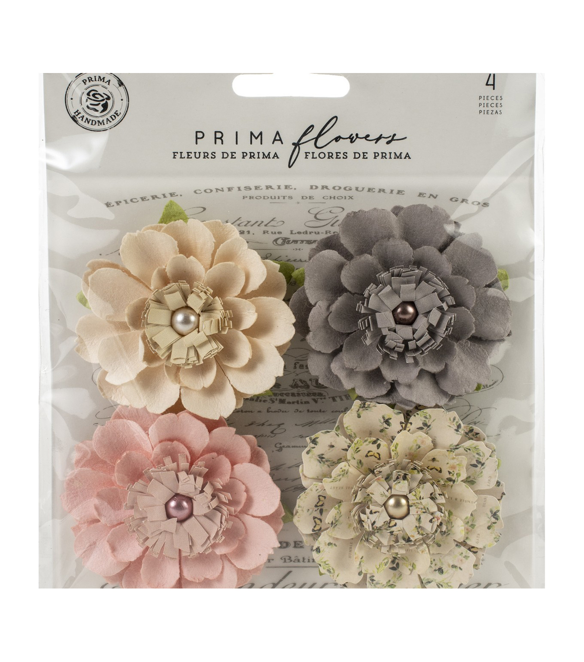 Prima Marketing Spring Farmhouse Mulberry Paper Flowers-Heart & Home