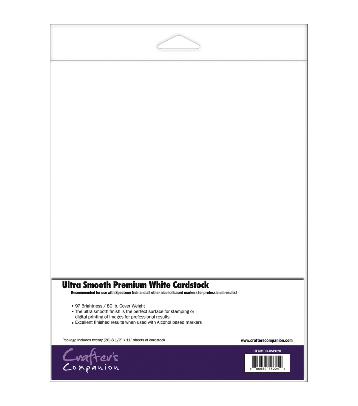 Crafter\u0027s Companion Spectrum Noir Ultra Smooth Premium Cardstock 20 pcs
