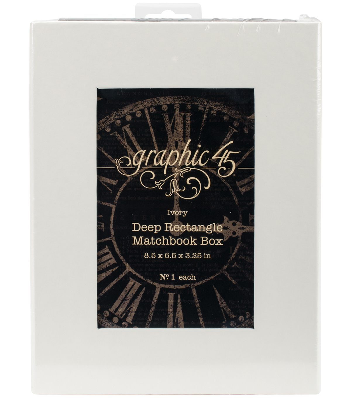 Graphic 45 Staples Deep Matchbook Box-8.5\u0022X6.2\u0022X3\u0022