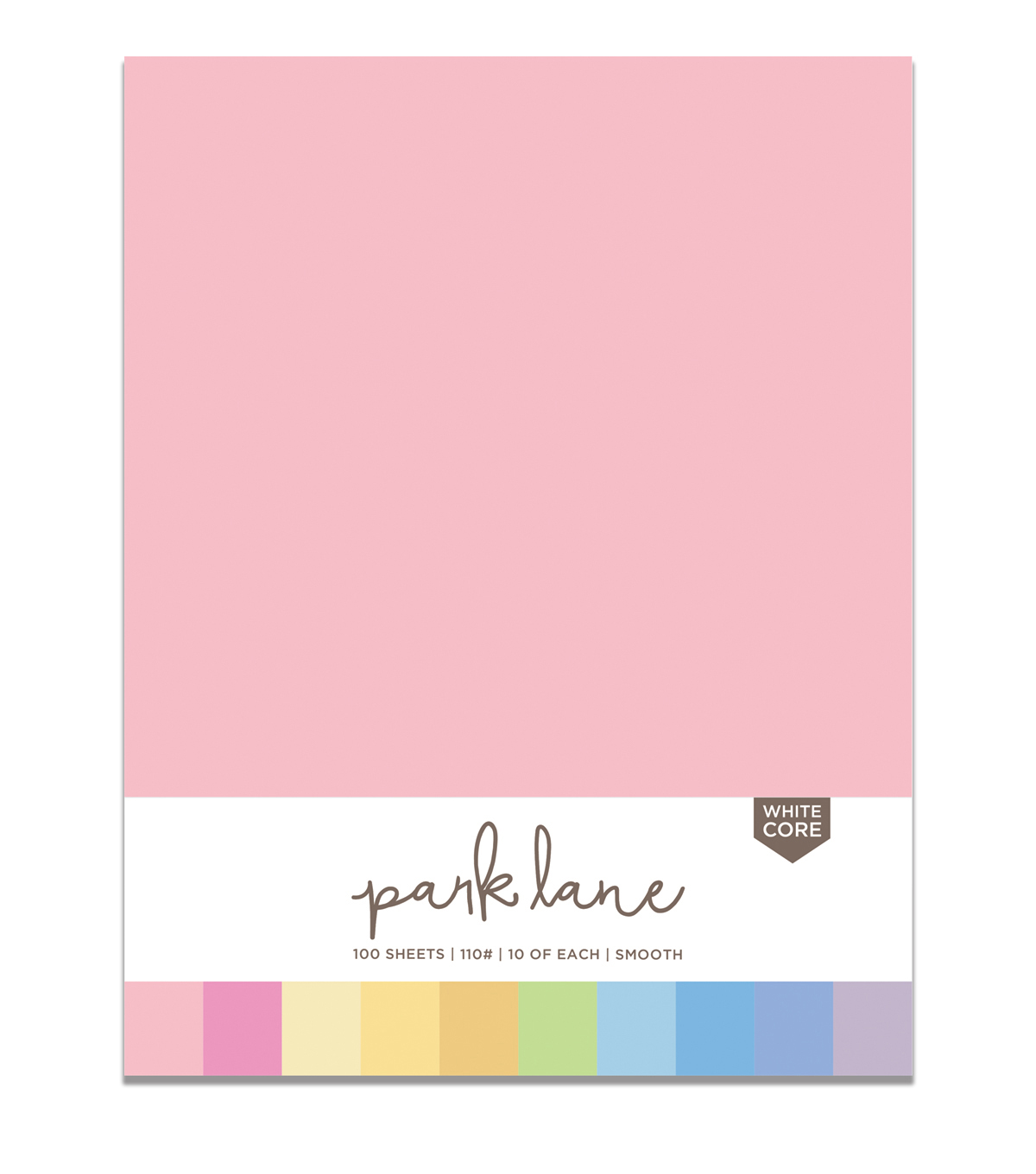 Park Lane 100 pk 8.5\u0027\u0027x11\u0027\u0027 Value Papers-Pastels