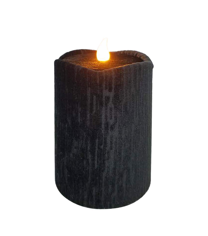 maker's halloween 3''x4'' led velvet candle-black | joann