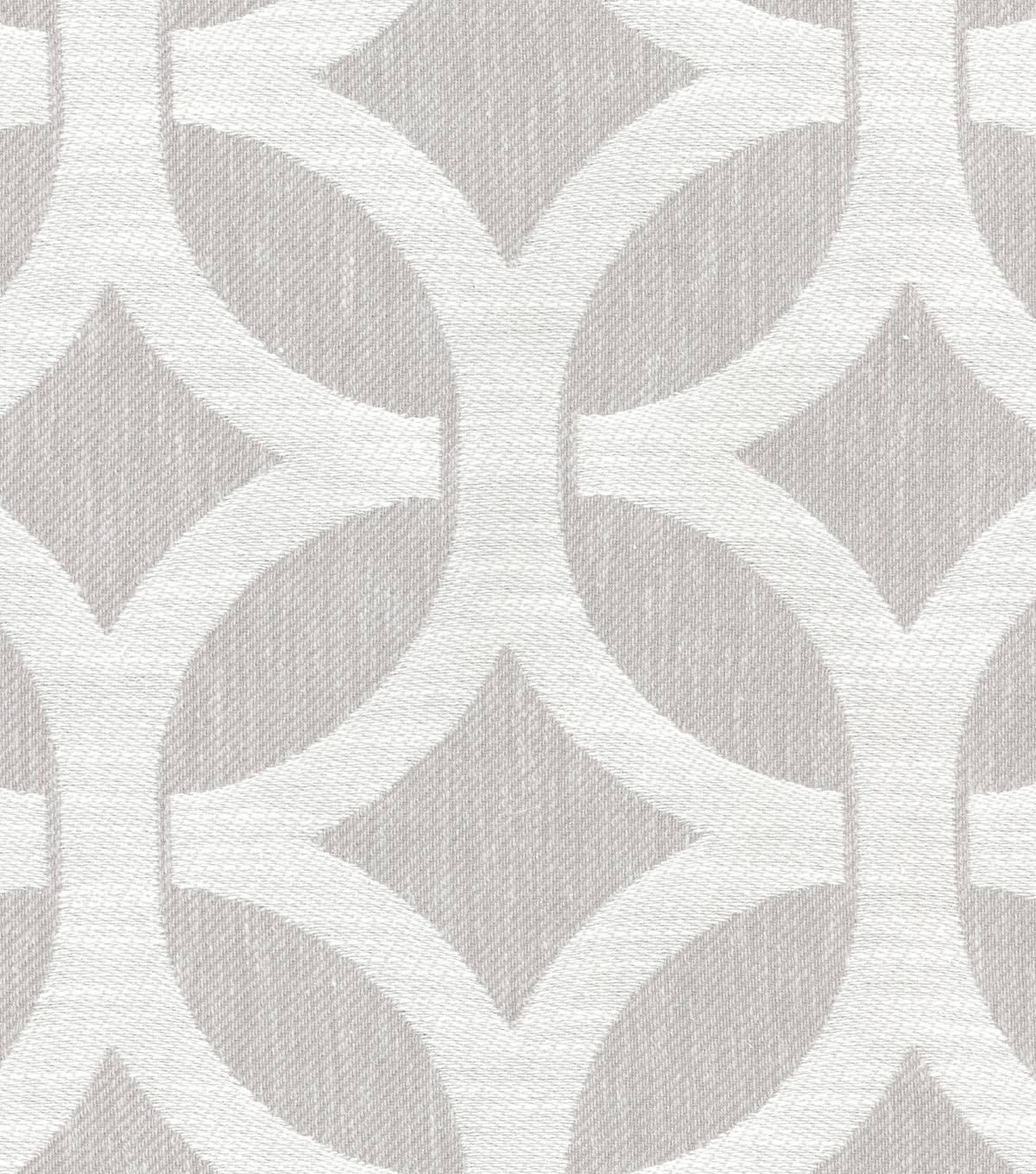 Home Decor 8\u0022x8\u0022 Swatch Fabric-Waverly Ludlow Lattice Fog