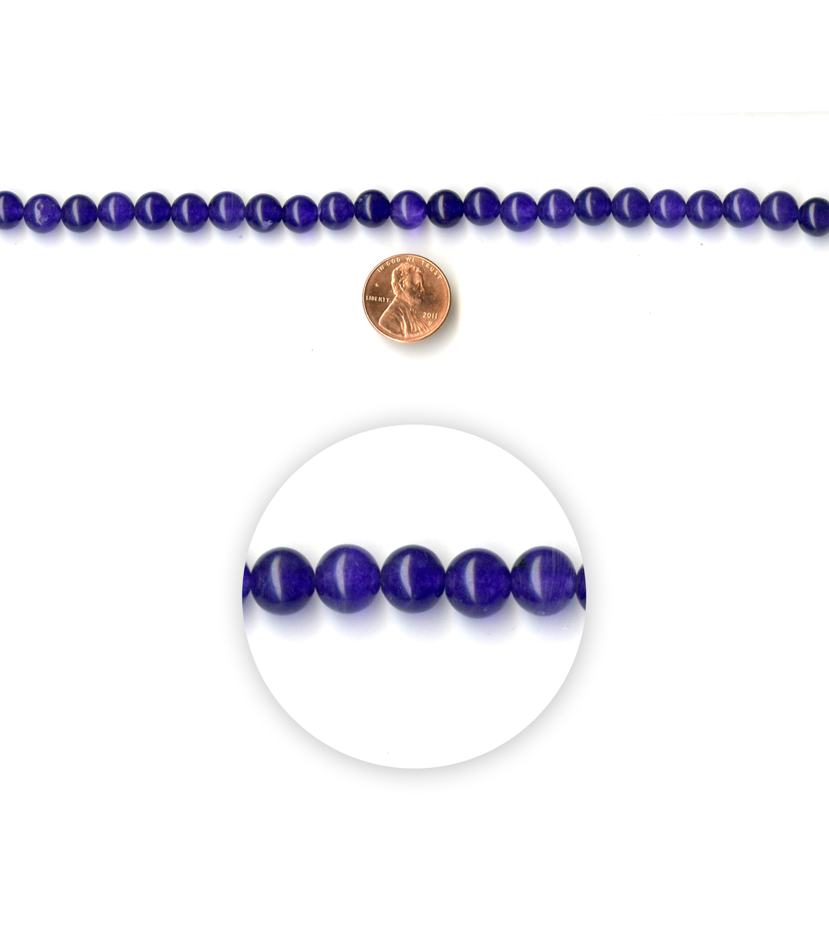 Blue Moon Strung Flourite Stone Beads,Round,Purple