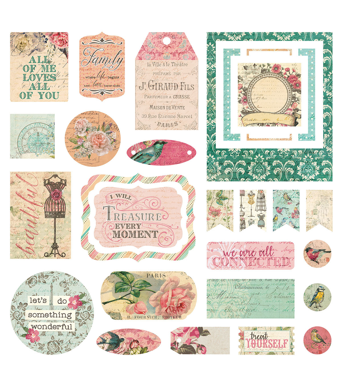 Photoplay Paper Moments in Time 29 pk Cardstock Die-cuts