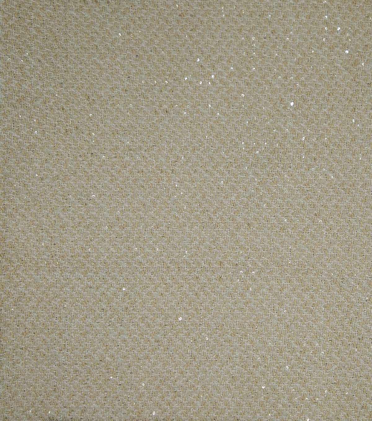 Check It Woven Boucle Fabric 57\u0022-Natural Sequin