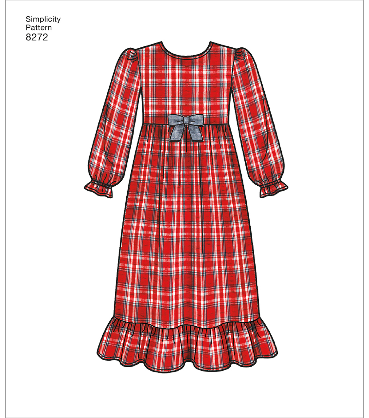 Simplicity Pattern 8272 Children\u0027s/Girls\u0027 Sleepwear-Size K5 (7-14)