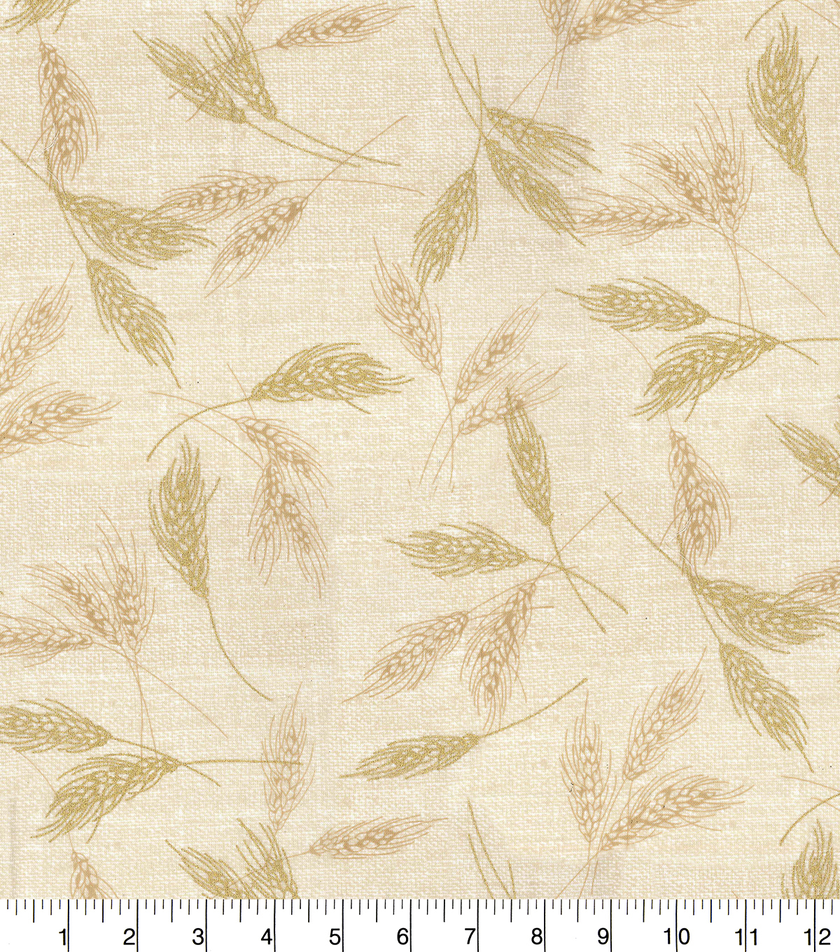 Fall Harvest Cotton Fabric-Cream Tossed Glitter Wheat