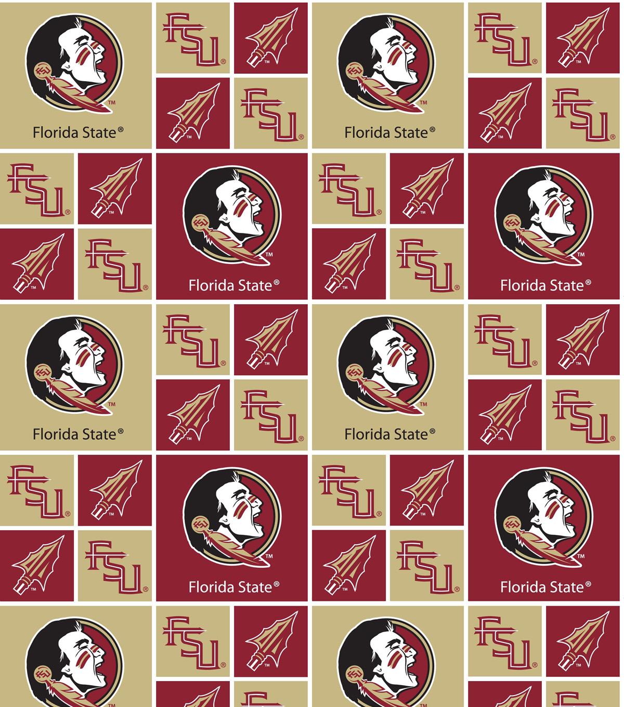 Florida State University Seminoles Cotton Fabric -Patch