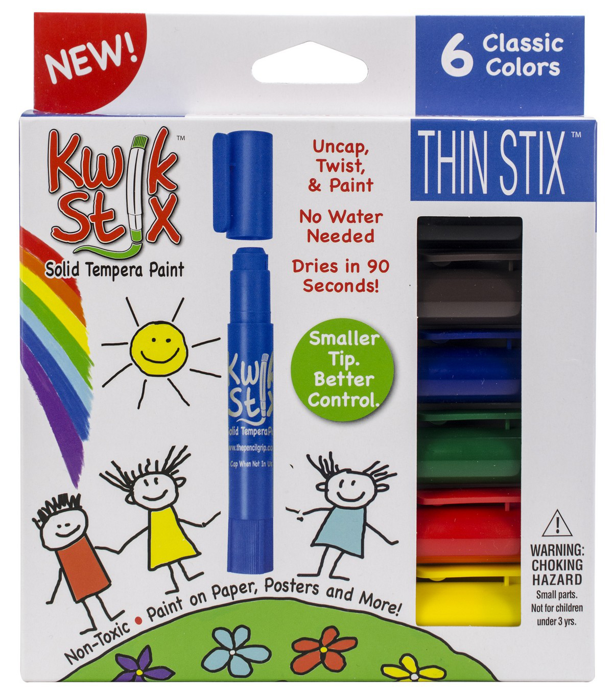 Kwik Stix ThinStix Tempera Paint 6/pkg-Classic Assorted