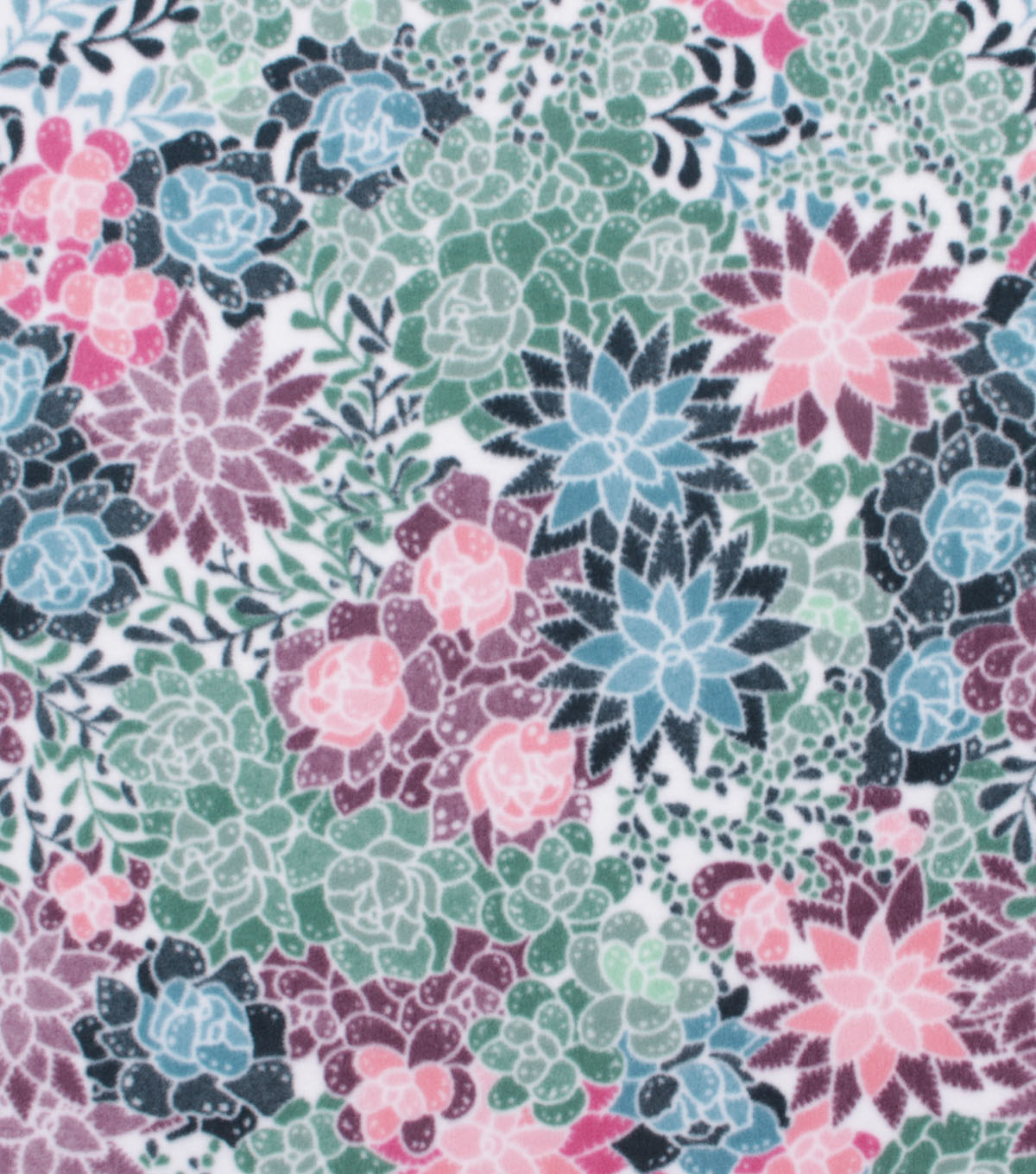 Anti-Pill Plush Fleece Fabric-Pastel Floral