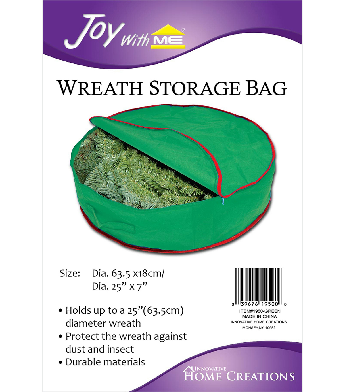 Wreath Storage Bag 25\u0022