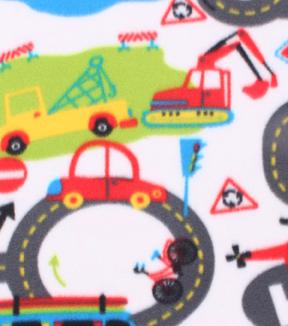 Blizzard Fleece Fabric -Roadway with Roundabouts