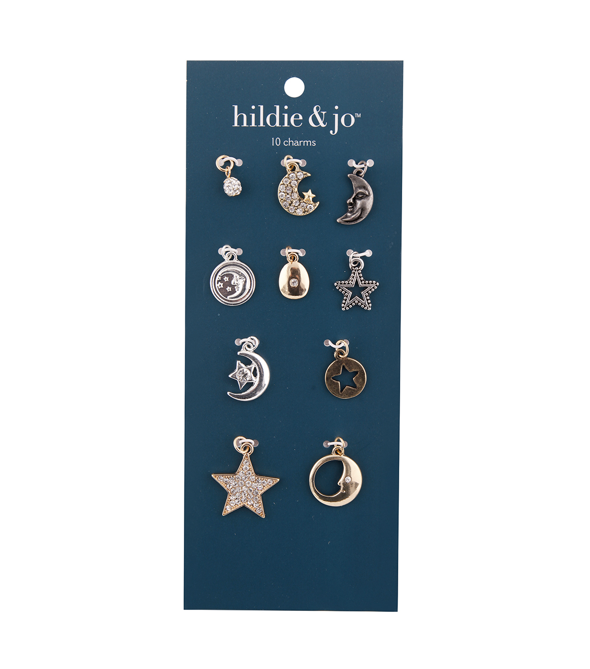 hildie & jo Zinc Alloy & Iron Star & Moon Charm Pack