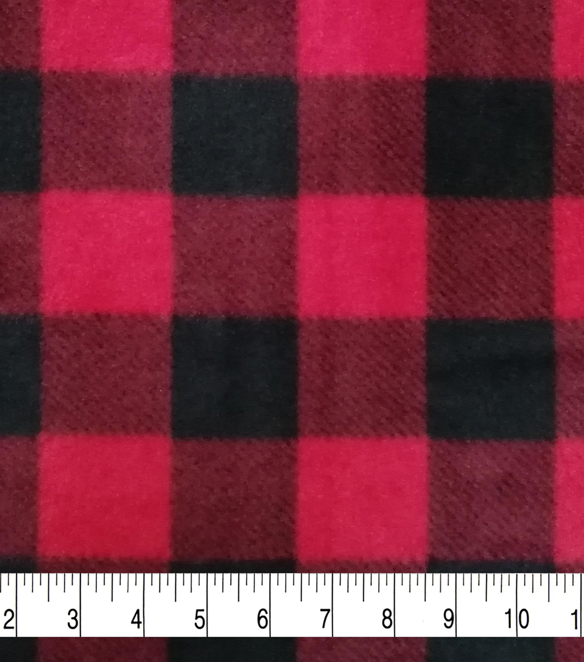 Super Fleece Fabric 58\u0027\u0027-Red Buffalo Check