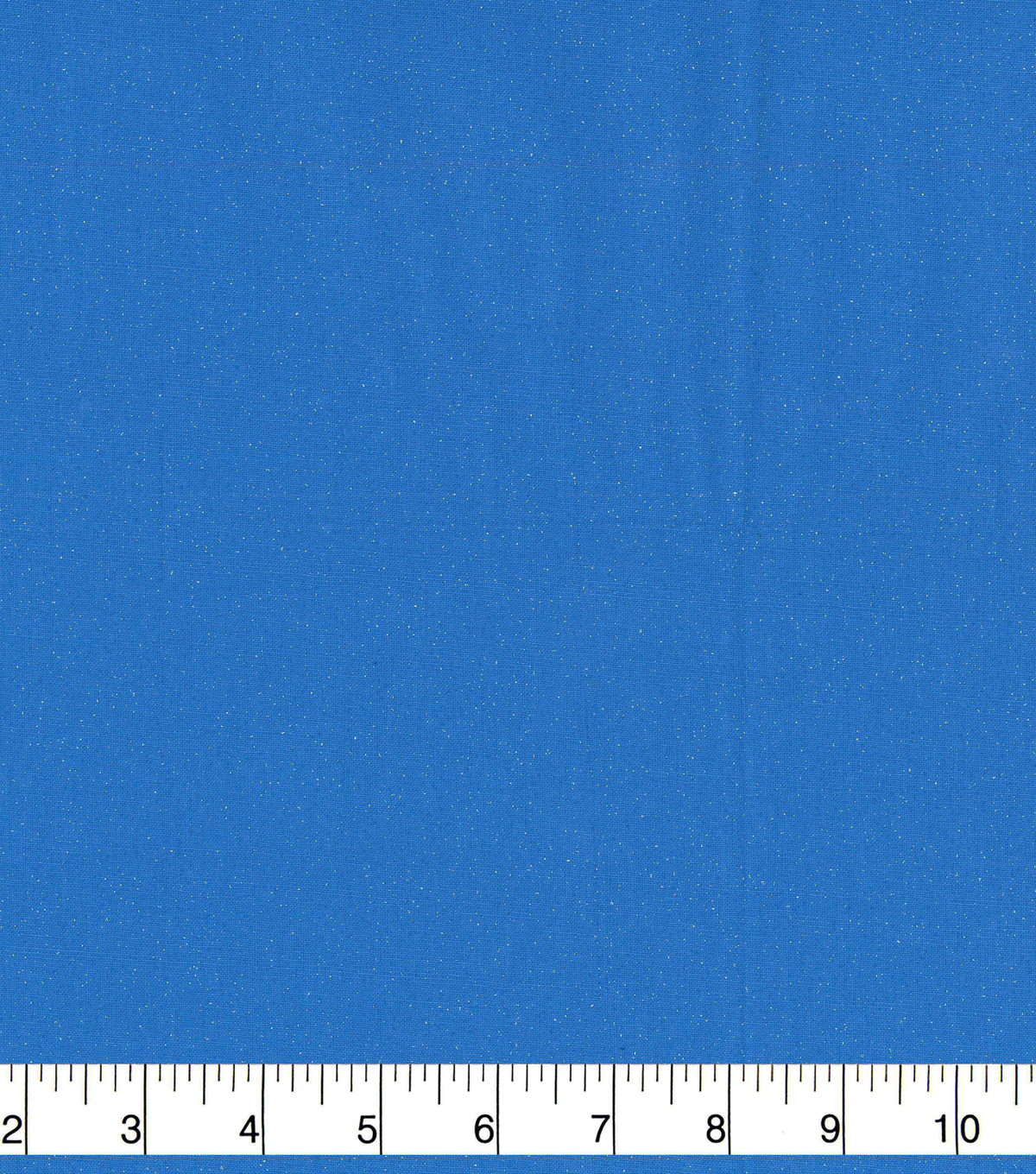 Keepsake Calico Cotton Fabric-Silver Glitter on Light Blue