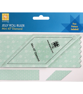 Ez Quilting Mini 45° Diamond Jelly Roll Ruler
