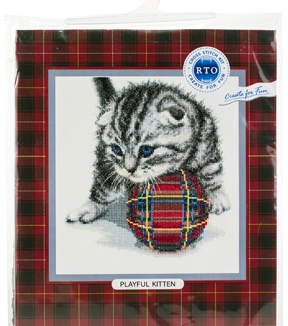 RTO Alexey Zvezdin Counted Cross Stitch Kit-Playful Kitten