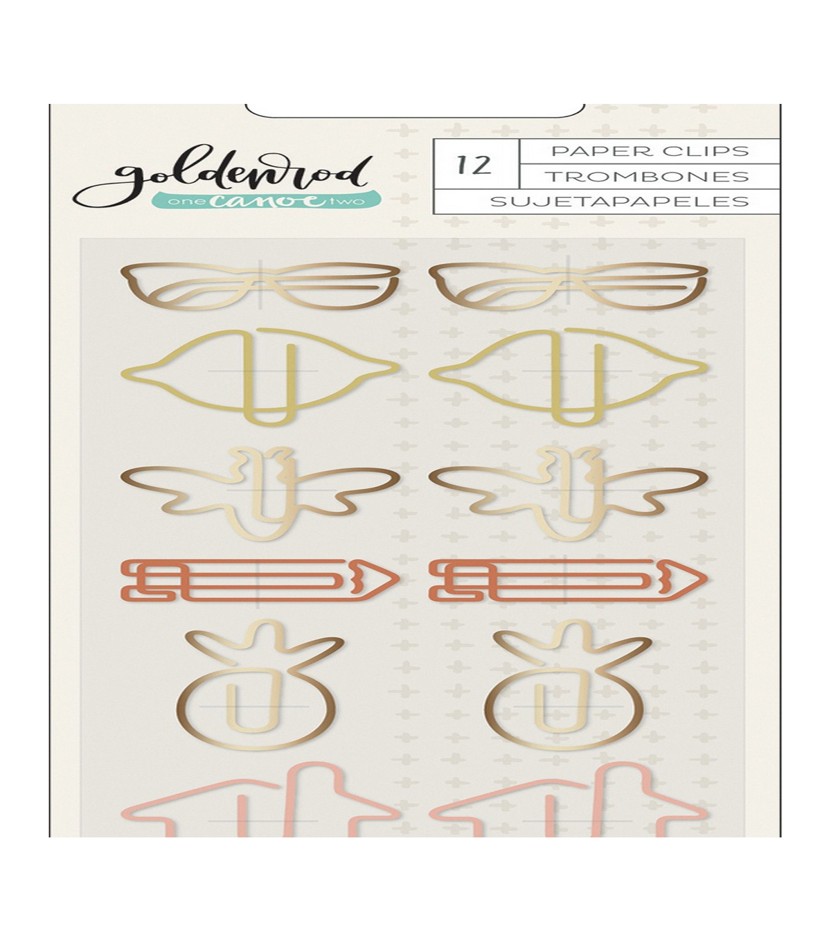 One Canoe Two Goldenrod 12 pk Paper Clips
