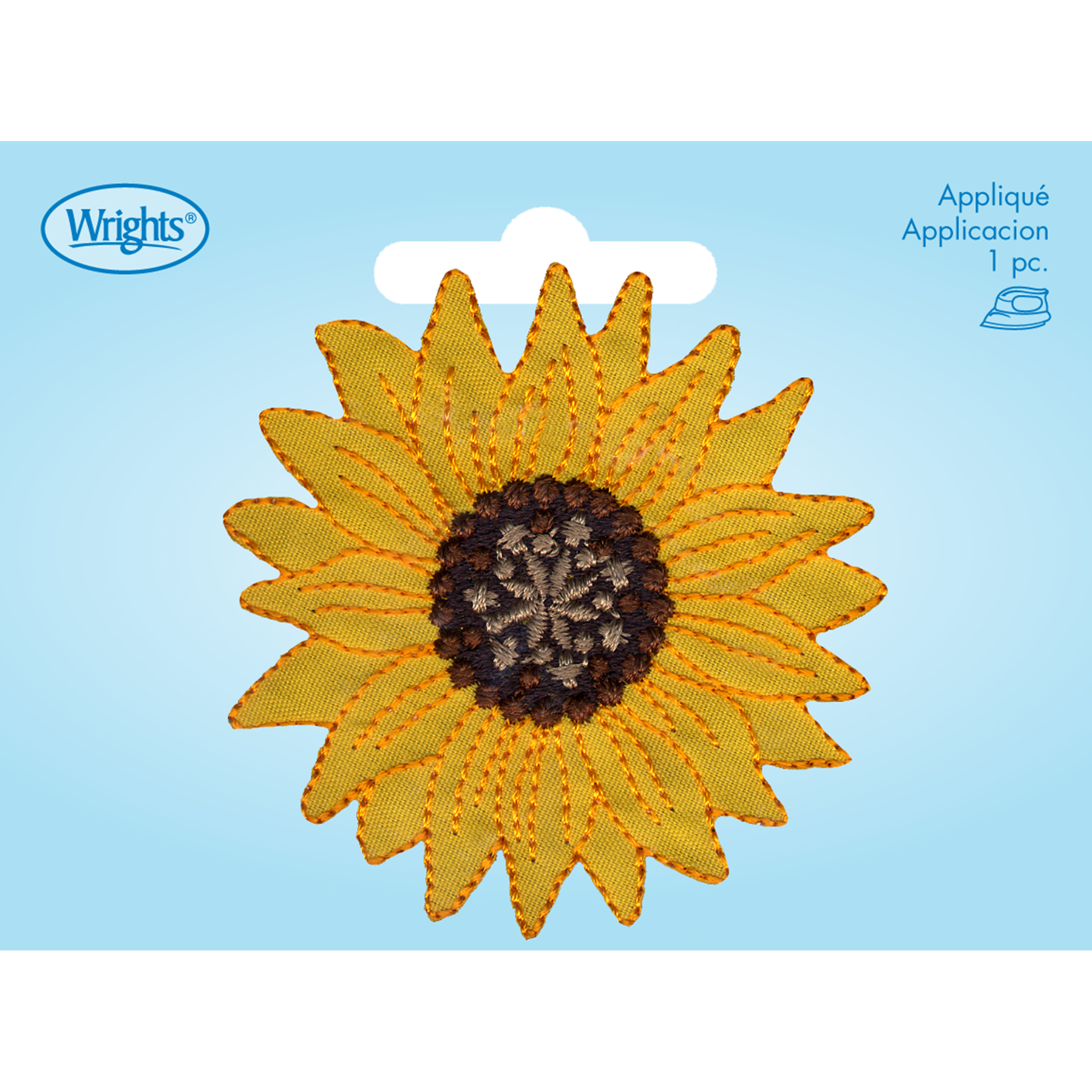 1PC~BEAUTIFUL SUNFLOWER ~IRON ON EMBROIDERY APPLIQUE