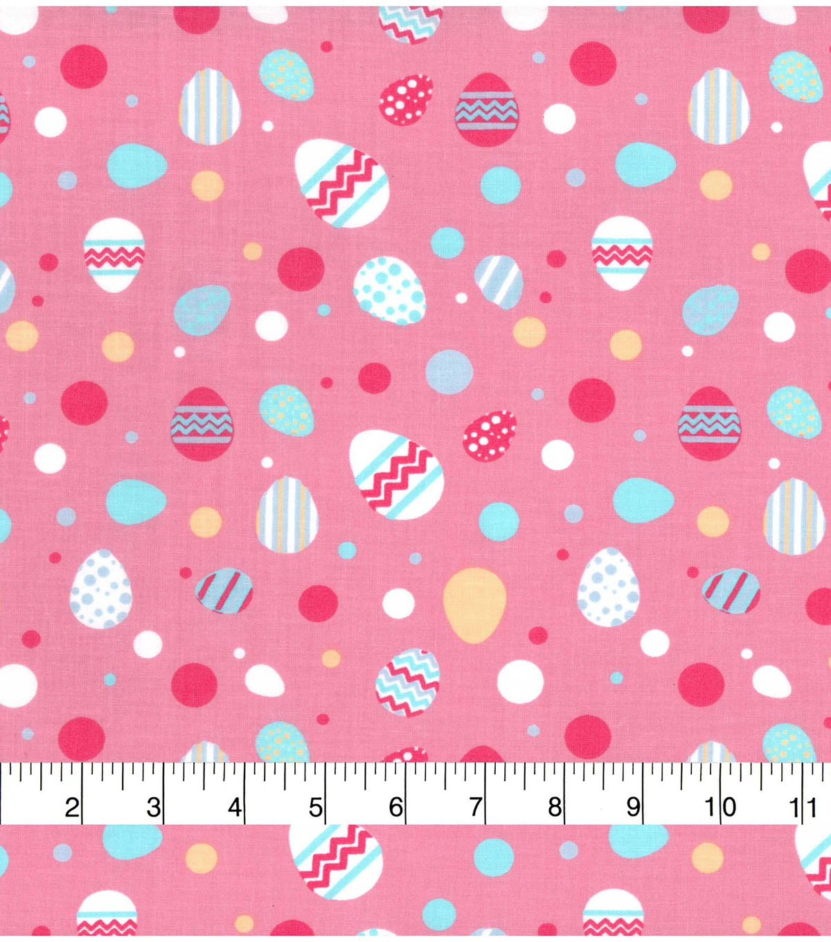 Easter Cotton Fabric-Bright Dots & Easter Eggs