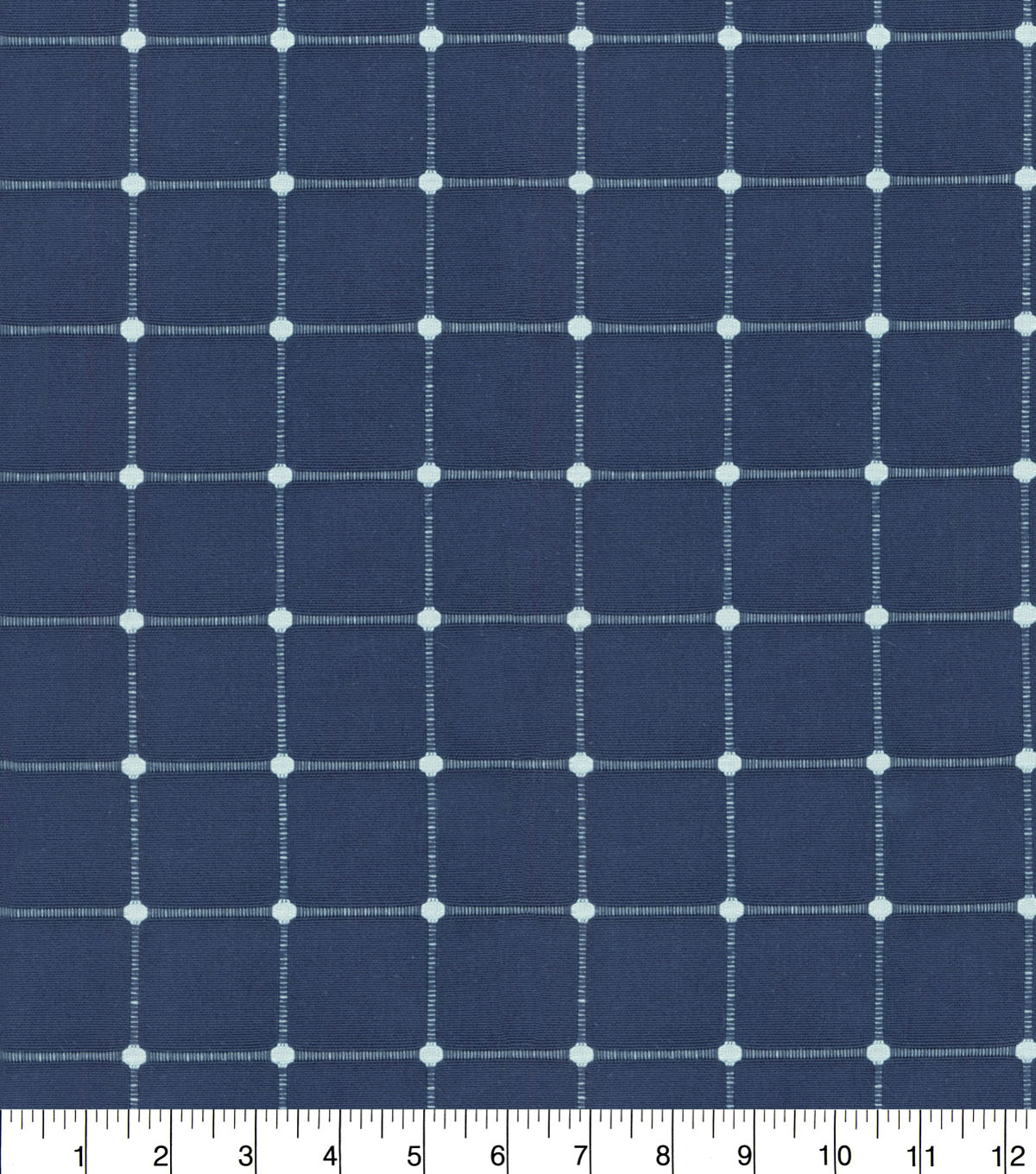 Waverly Upholstery Fabric 13x13\u0022 Swatch-Geo Metrics Indigo