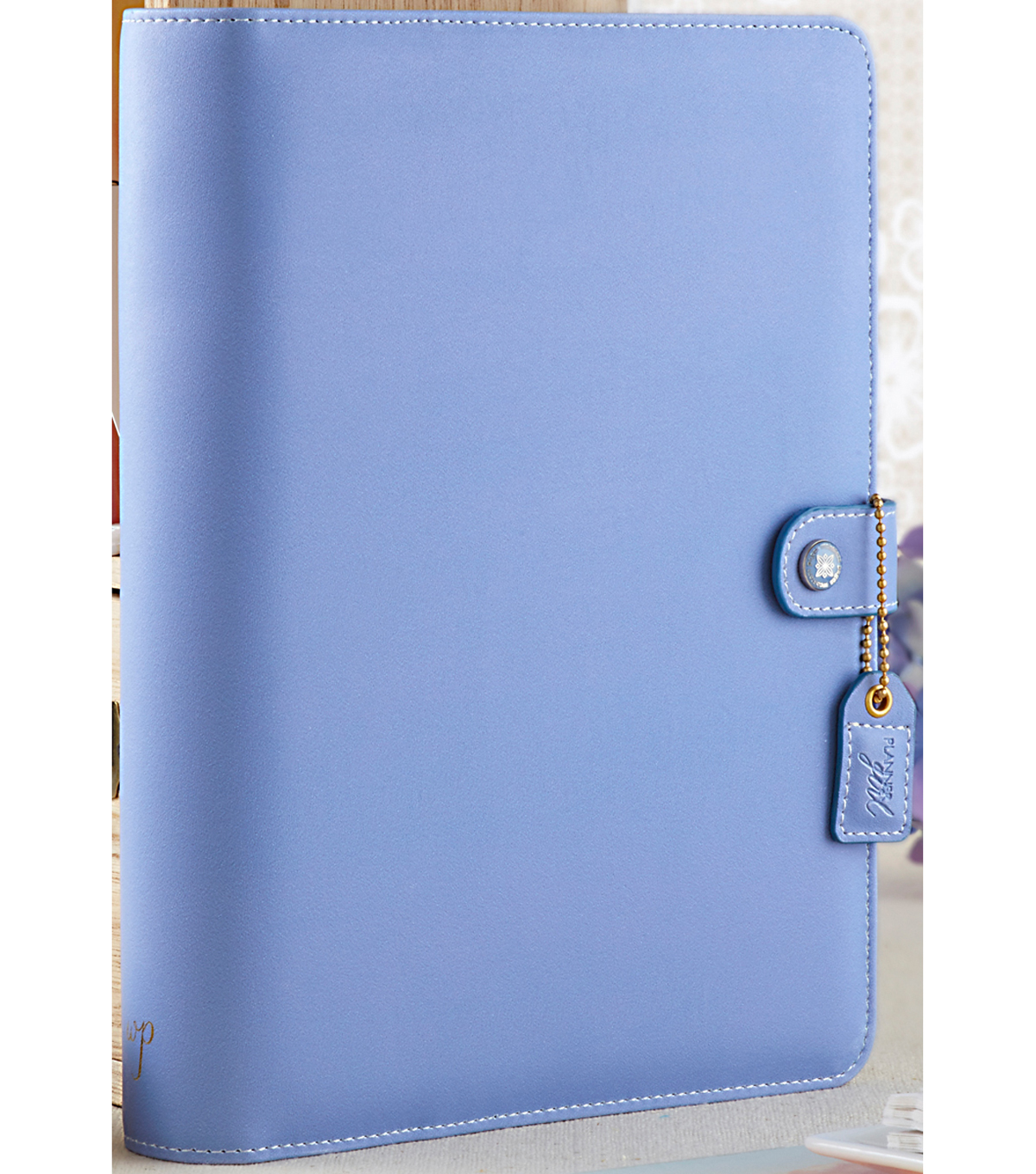 A5 Faux Leather 6-Ring Planner Binder 7.5\u0022X10\u0022-Periwinkle