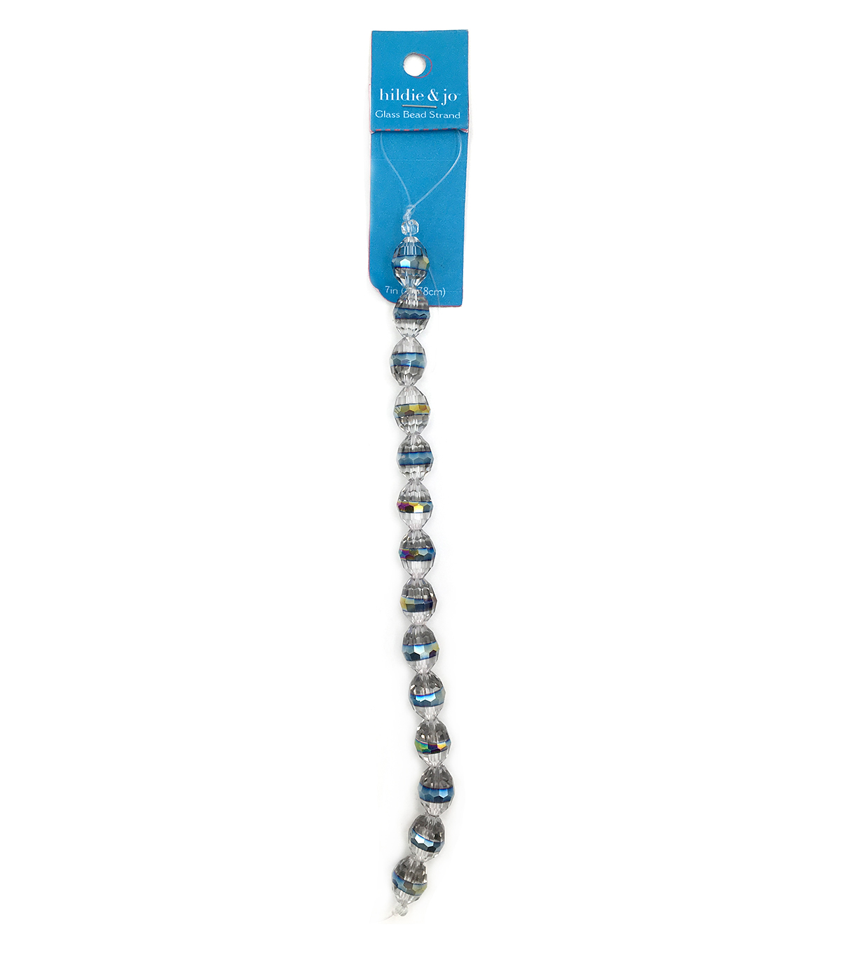 Blue Moon Strung Machine Cut Crystal Beads,Clear w/Rainbow AB,Facetted