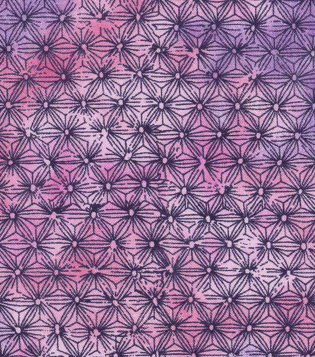 Keepsake Calico Cotton Fabric 43\u0022-Purple Pink Tie Dye Blender