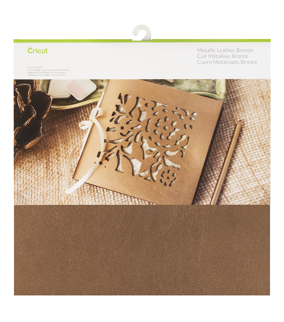 Cricut Metallic Leather-Bronze