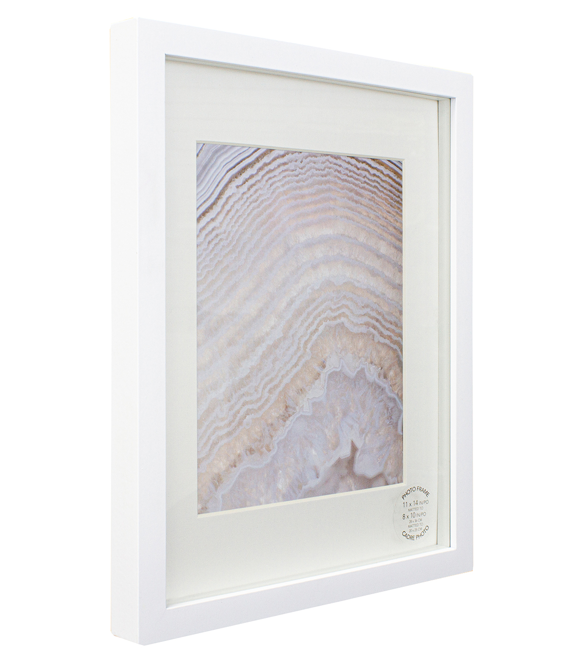 Single Image Gallery Photo Frame Matted to 8\u0027\u0027x10\u0027\u0027-White