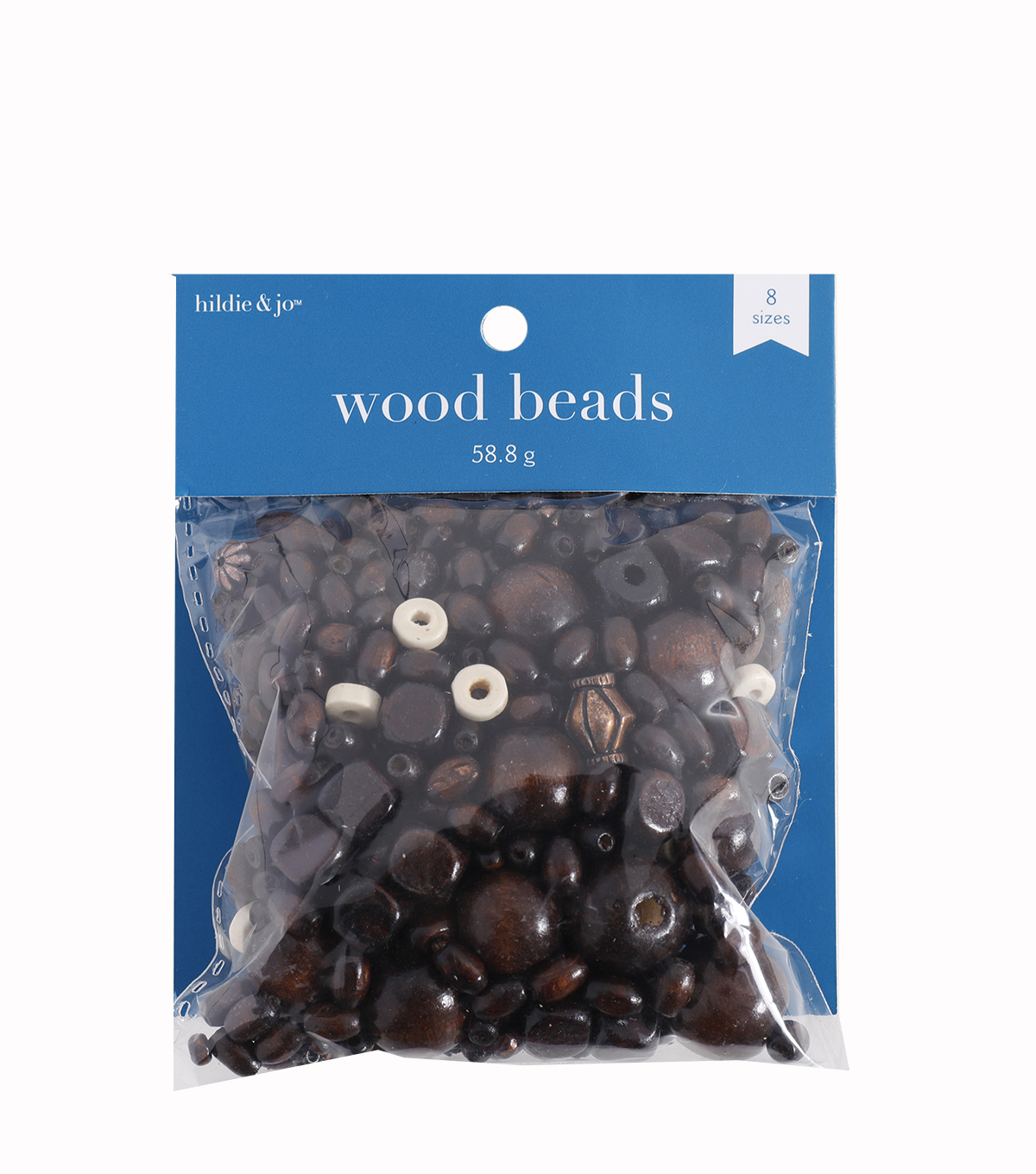 Wood and Plastic Bead Assortment, Dark Brown, 230pcs.