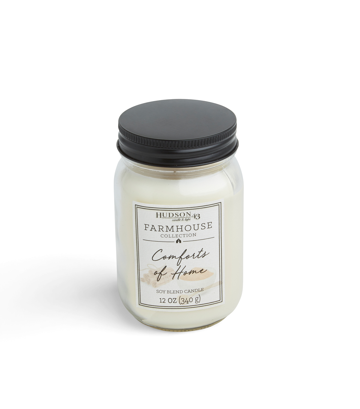 Hudson 43 Farmhouse Collection 12 oz. Comforts of Home Mason Jar Candle