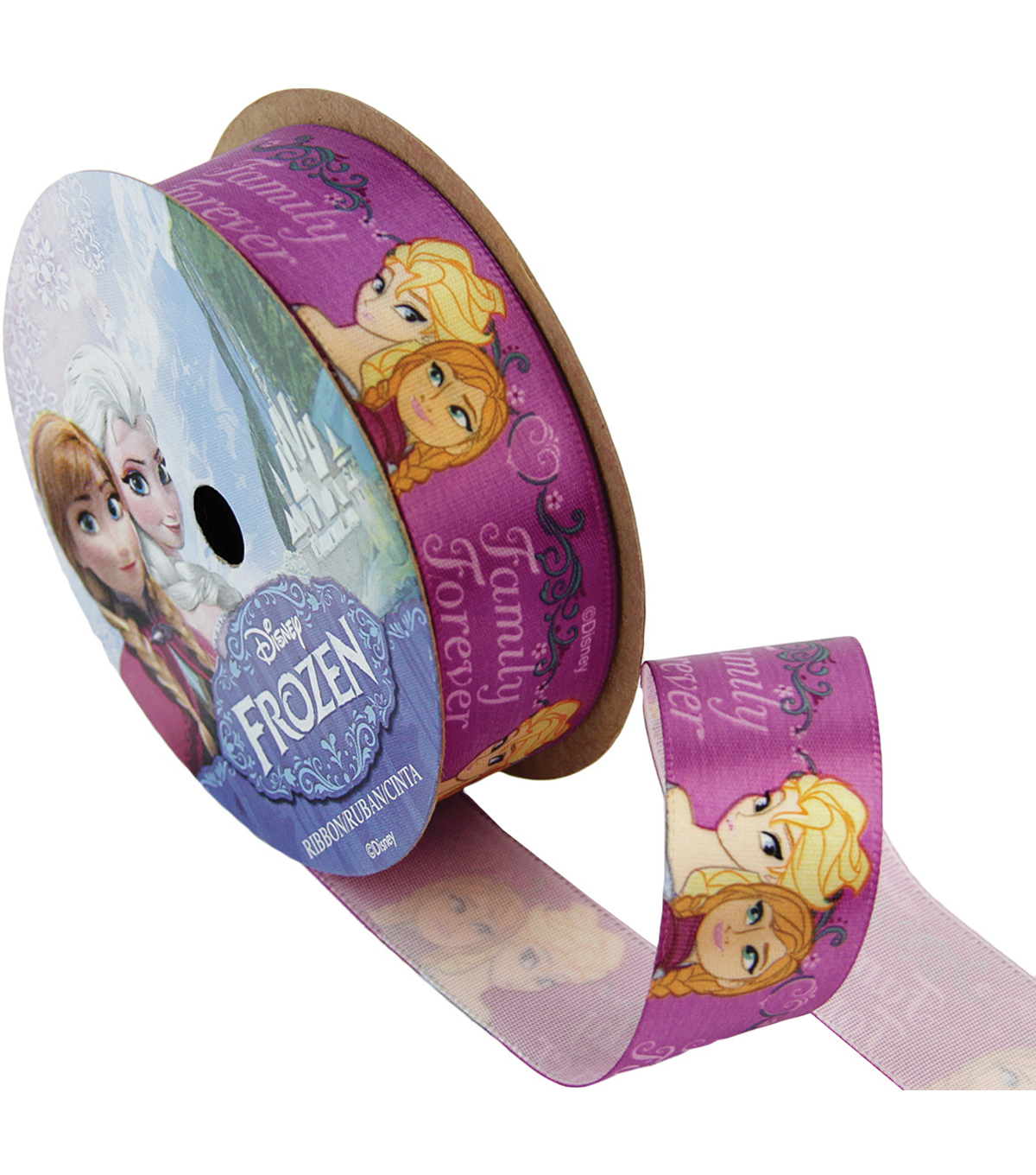 Frozen Ribbon 7/8\u0022x9\u0027-Family Forever