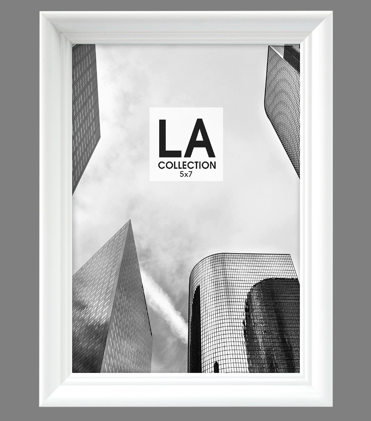 LA Collection Traditional Frame 5x7-White