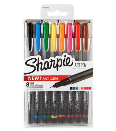 Sharpie Art Pen 8 ct-Assorted