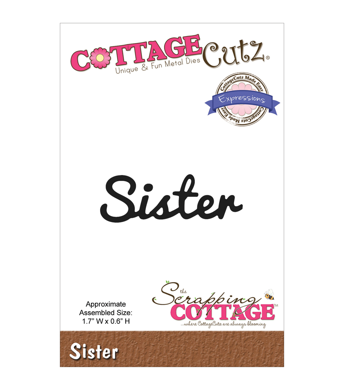 CottageCutz Expressions Sister Die
