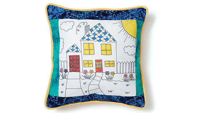 Kids' My Drawing Quilt Pillow