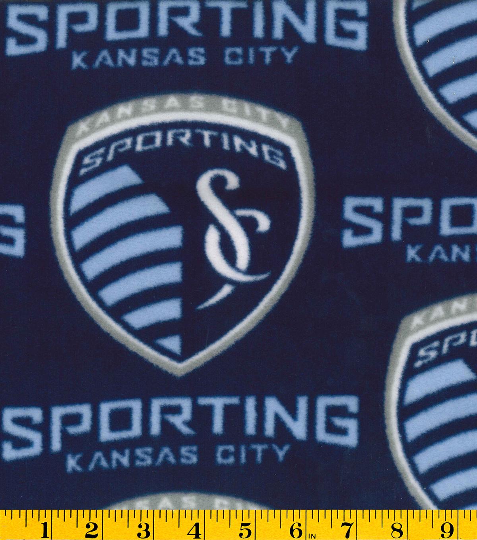 buy popular 987d5 32dbc Sporting Kansas City Fleece Fabric -Logo